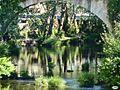 Pontecaldelas-Reflejos bajo el puente (5767507850).jpg