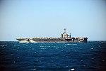 Port beam view of USS George Washington (CVN-73) underway in the Timor Sea during Talisman Sabre 2015 150713-N-BX824-133.jpg