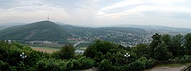 View over Porta Westfalica to the Weser hills