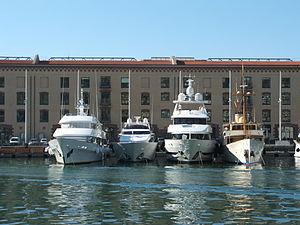 Italiano: Immagine dal porto antico di Genova,...