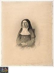 Portret van Zuster Agnes, geboren Louise Copman