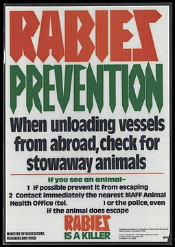 Poster advertising the dangers of rabies Wellcome L0070326.jpg