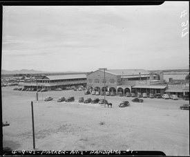 Poston, Arizona. View of main street in Parker. Near this desert town, the War Relocation Authorit . . . - NARA - 536255.tif
