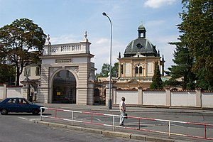New Jewish Cemetery, Prague - Entrance gate