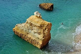 Praia da Marinha - Image: Praia da Marinha (2012 09 27), by Klugschnacker in Wikipedia (10)