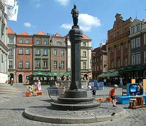 Pranger - Renaissance pranger in Poznań in the form of a column.