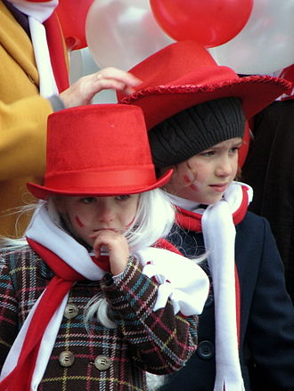 National Independence Day (Poland) - Children participating in the National Independence Day celebrations in Gdańsk, 2010