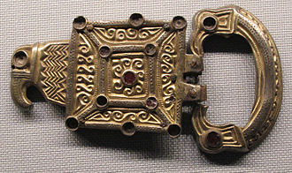 Taifals - Buckle from the first hoard of Coşoveni, 5th century, possibly of Taifal origin, from Coşoveni, Oltenia, Romania
