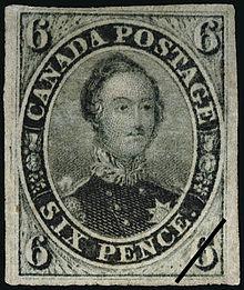 Prinz Albert auf einer kanadischen Briefmarke, veröffentlicht im März 1855 (Quelle: Wikimedia)