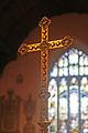 Processional cross in St Padarn's Church, Llanbadarn Fawr, Ceredigion.jpg