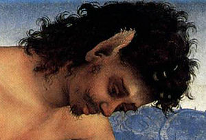 The Death of Procris - Detail of the mourning faun.
