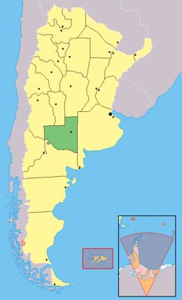 Mapa de La Pampa