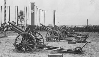 Skoda houfnice vz 14 - Polish 100 mm wz.1914/19P howitzers