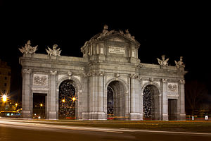 Francesco Sabatini - Puerta de Alcalá in Madrid was designed and built by Sabatini