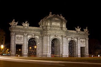Francesco Sabatini - Puerta de Alcalá in Madrid was designed and built by Sabatini