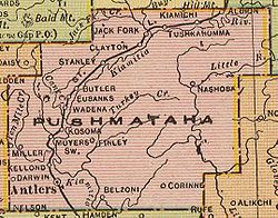 Pushmataha County Oklahoma Wikipedia - Counties of oklahoma map