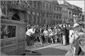 Pye Ltd. - Demo of television in Mons (Belgium) on 16 September 1947