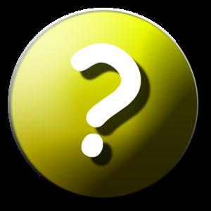 English: Question-mark icon