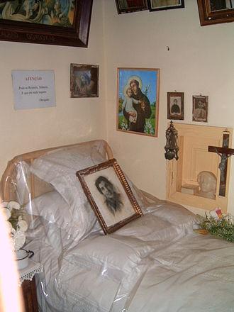Alexandrina of Balazar - Blessed Alexandrina's bedroom in Balazar.