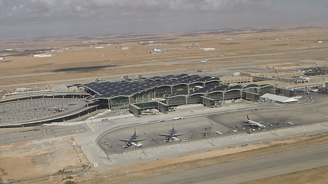 Queen Alia International Airport By Writer.00015 (Own work) [CC BY-SA 3.0 (http://creativecommons.org/licenses/by-sa/3.0)], via Wikimedia Commons