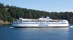 English: BC Ferries' Queen of Saanich navigati...