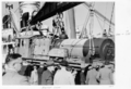 Queensland State Archives 4268 Unloading garrat locomotive Pinkenba 1950.png
