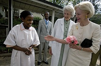 Quentin Bryce - Bryce (far right) during a March 2009 visit to Africa.