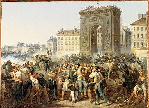 Révolution de 1830 - Combat de la Porte Saint-Denis - 28.07.1830