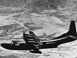 R3Y-1 Tradewind in flight near NAS Miramar c1956.jpg