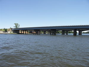 Provincial routes (South Africa) - Image: R57 crossing the Vaal River 001