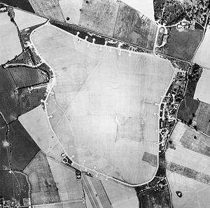 RAF Westhampnett - Aerial photograph of RAF Westhampnet, the technical site is to the right, 19 April 1946