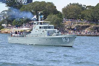 HMAS Advance (P 83) - Image: RAN IFR 2013 D3 24