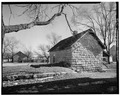 REAR ELEVATION OF SECOND OLDEST HOUSE. OLDEST HOUSE IS AT LEFT - Town of Liebenthal, Liebenthal, Rush County, KS HABS KANS,83-LIEB,1-3.tif