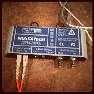MADI multichannel digital audio interface