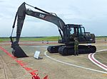 ROCA Caterpillar 320D Excavator Display in Chaiyi Air Force Base 20120811a.jpg