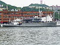 ROCN Rescue and Salvag Ship Da Hu Shipped in Keelung Harbor with ROCCG Patrol Ship CG-101 20120526.jpg