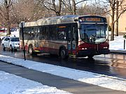 The Route 16 bus leaving Millersville inbound to Lancaster.