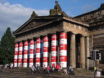 English: Royal Scottish Academy column decorat...