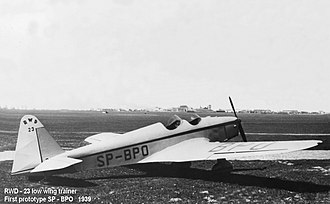RWD 23 - Image: RWD 23 Low wing trainer SP BPO 1939