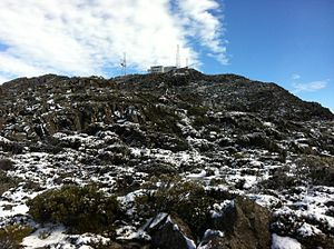 Mount Barrow - Image: Radio Terminal Mt Barrow Summit