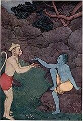 Rama sending his signet ring to Sita