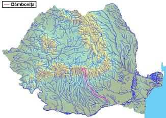 The Dâmbovița in Romania
