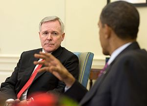 Ray Mabus - Mabus meeting with President Obama in the Oval Office in June 2010.