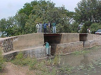 Transport in Chad - Rebuilt Bridge in south west of Chad