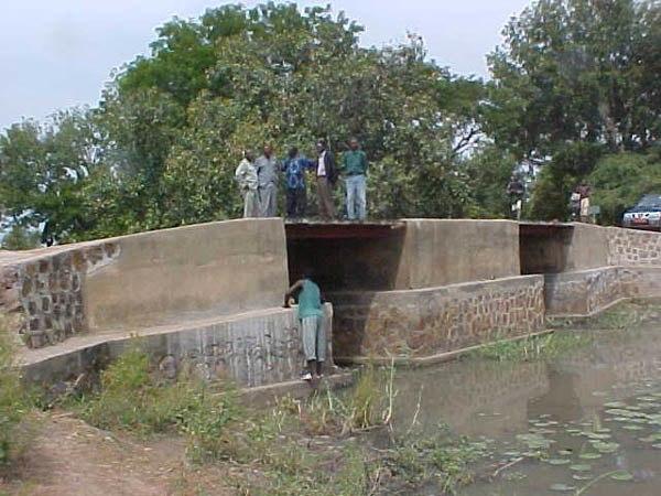 Rebuilt bridge on Bragoto River