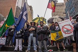 Reclaim Australia - Reclaim Australia rally in Martin Place, Sydney, April 2015