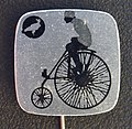 Reclamespeldje van een oud model fiets foto 3.JPG