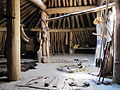 Reconstructed Mandan earthlodge interior.JPG