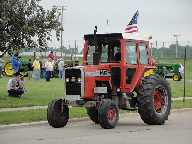 dateired massey ferguson 1085 during a parade in owatonna