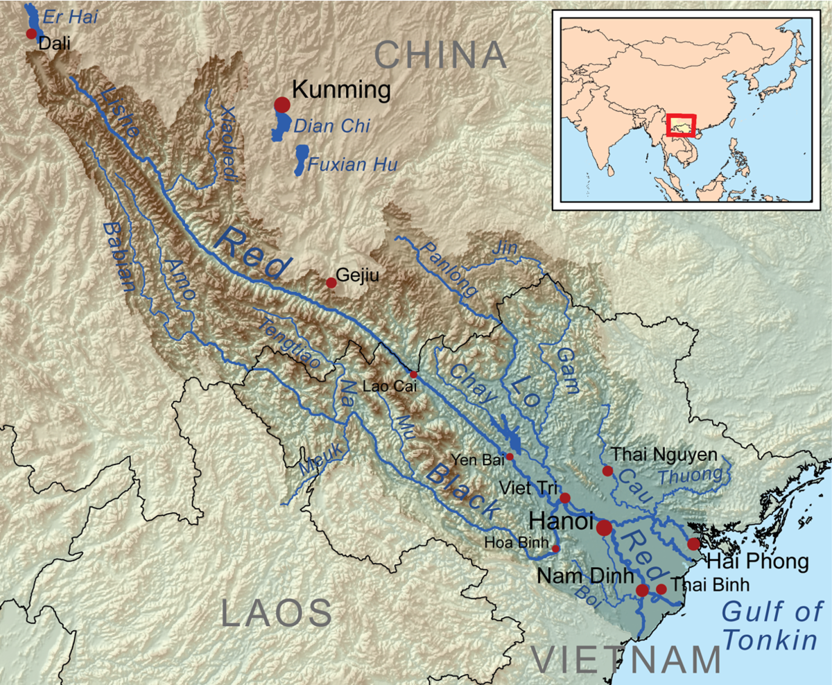 Red River Asia Wikipedia - Ob river on world map
